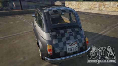 GTA 5 Fiat Abarth 595ss Racing ver vista lateral izquierda trasera