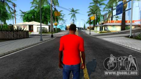 Hulk Hogan T-Shirt para GTA San Andreas tercera pantalla