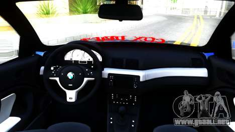BMW E46 Touring Facelift para visión interna GTA San Andreas