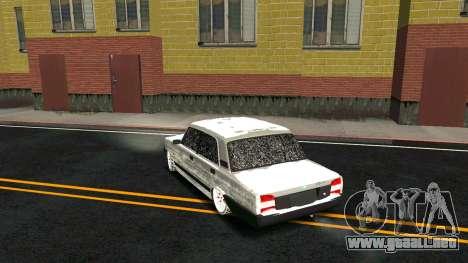 2107 Clásico de la 2 edición de Invierno para vista inferior GTA San Andreas