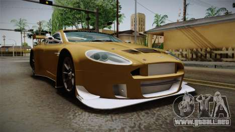 Aston Martin Racing DBRS9 GT3 2006 v1.0.6 YCH para la visión correcta GTA San Andreas