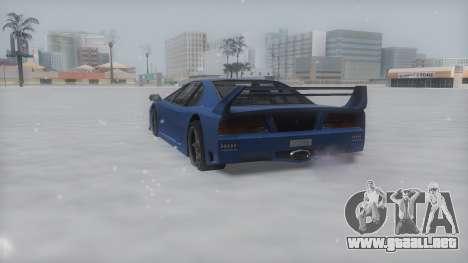 Turismo Winter IVF para GTA San Andreas vista posterior izquierda