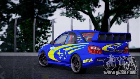 Subaru Impreza WRX STI WRC Rally 2005 para GTA San Andreas left