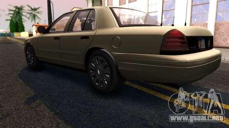 Ford Crown Victoria Unmarked 2009 para GTA San Andreas vista posterior izquierda
