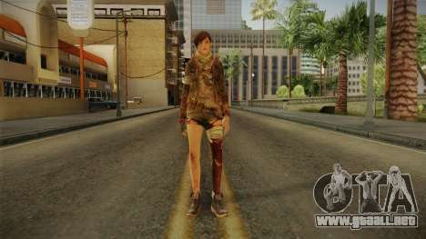 RE Revelations 2 - Moira Burton Survivor para GTA San Andreas segunda pantalla