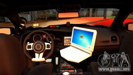 2014 Dodge Charger Cleveland TN Police para la visión correcta GTA San Andreas