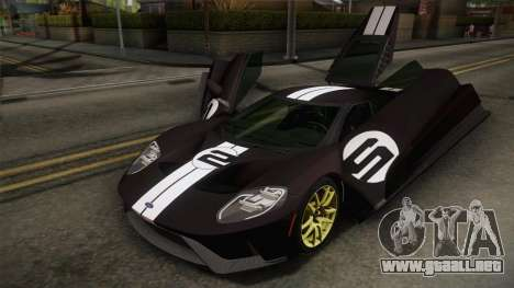 Ford GT 2017 Heritage Edition para vista inferior GTA San Andreas