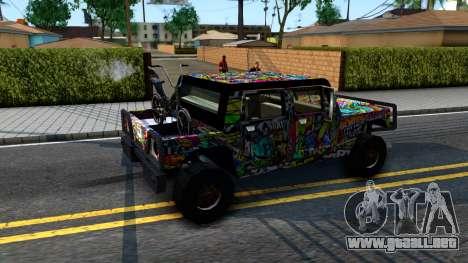 Sticker Patriot para GTA San Andreas vista hacia atrás