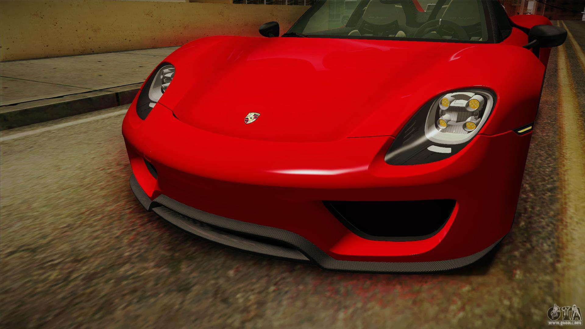 porsche 918 spyder 2013 weissach package sa para gta san andreas. Black Bedroom Furniture Sets. Home Design Ideas