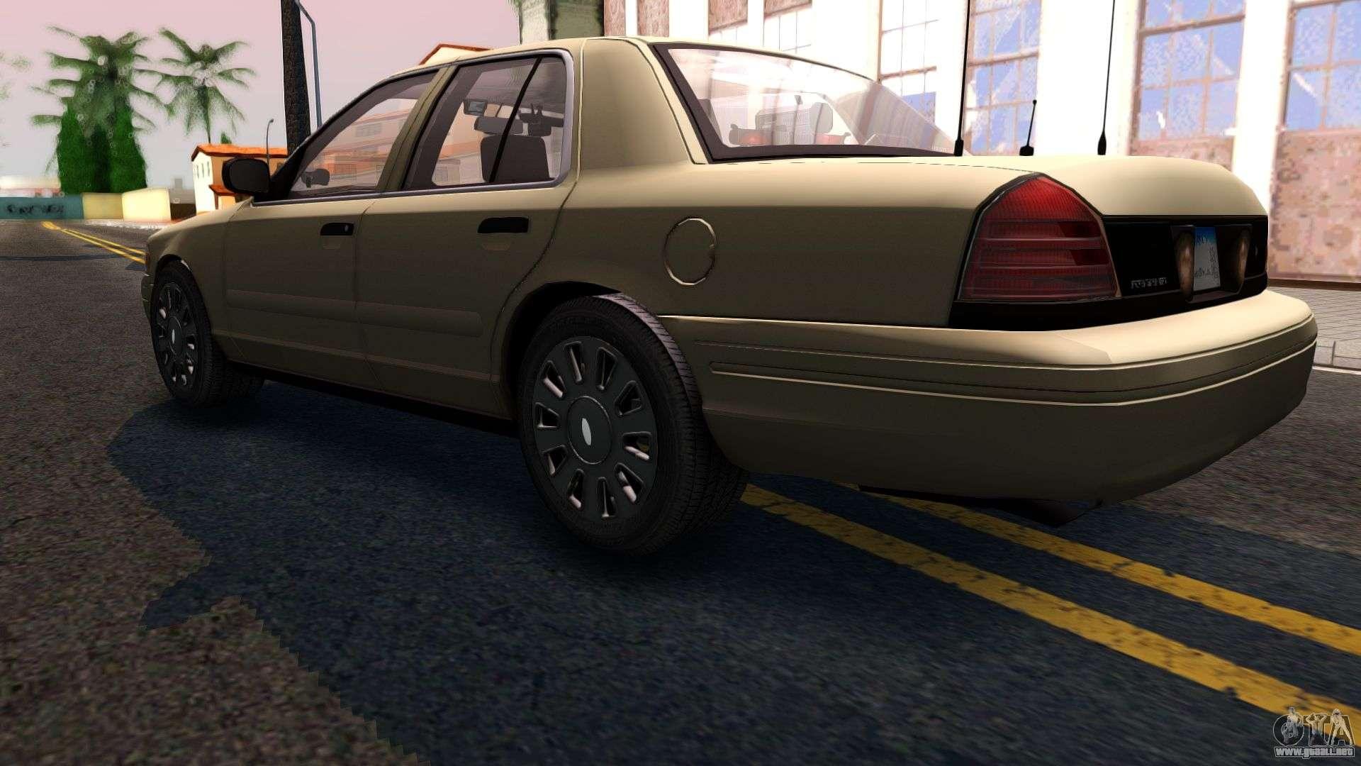 Ford Crown Victoria Unmarked  Para Gta San Andreas Vista Posterior Izquierda