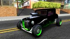 Green Flame Hotknife Race Car para GTA San Andreas