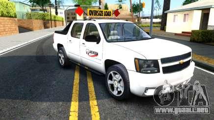 2007 Chevy Avalanche - Pilot Car para GTA San Andreas