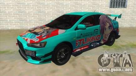 Tsukiko Itasha Evo X Vinyl para GTA San Andreas