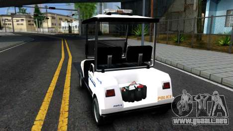 Caddy Metropolitan Police 1992 para GTA San Andreas vista posterior izquierda