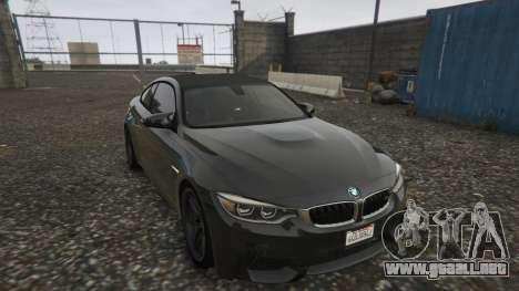 GTA 5 BMW M4 F82 2015 vista trasera