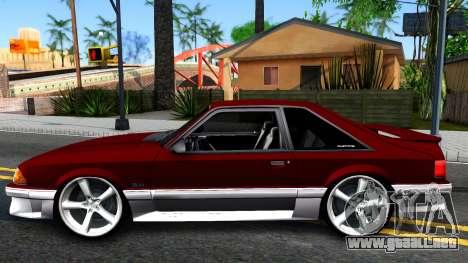 Ford Mustang 1993 para GTA San Andreas left