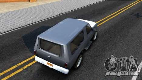 Land Roamer Driver Parallel Lines para GTA San Andreas vista hacia atrás