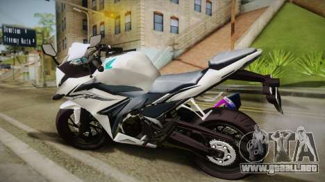 Honda CBR150R 2016 White Row para GTA San Andreas left