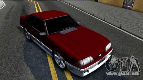 Ford Mustang 1993 para la visión correcta GTA San Andreas
