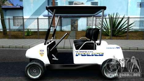 Caddy Metropolitan Police 1992 para GTA San Andreas left