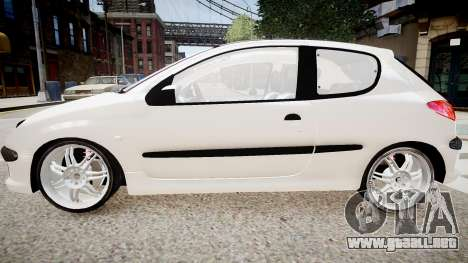 Peugeot 206 1.6 XT 2001 para GTA 4