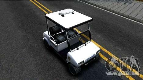 Caddy Metropolitan Police 1992 para la visión correcta GTA San Andreas