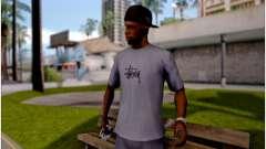 Camiseta De Stussy para GTA San Andreas