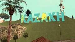 La inscripción en KAZAJO en lugar de Vinewood para GTA San Andreas