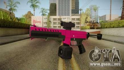 GTA 5 Combat PDW Pink para GTA San Andreas