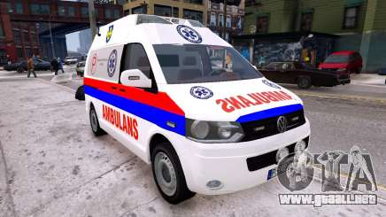 Volkswagen T5 Polish Ambulance para GTA 4