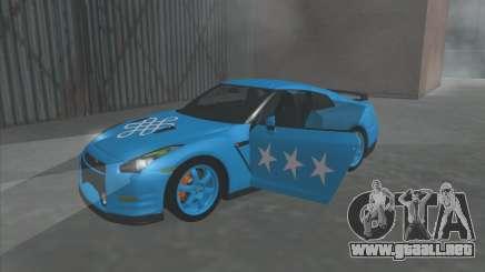 Nissan GTR Egoísta de 2011 (la Bandera de kazajstán kanato) para GTA San Andreas