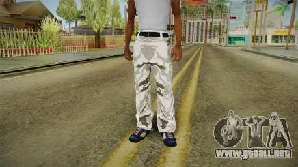 Mallas de camuflaje de invierno para GTA San Andreas