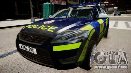 Ford Mondeo Estate police UK para GTA 4