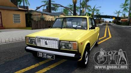 VAZ 2107 URSS para GTA San Andreas