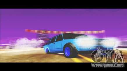 VAZ-2107 Azul para El Udnikoff para GTA San Andreas