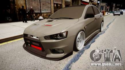 Mitsubishi Lancer Evolution X Stance para GTA 4