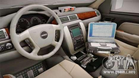 Dodge Ram 2008 Union Pacific Railroad PD para visión interna GTA San Andreas
