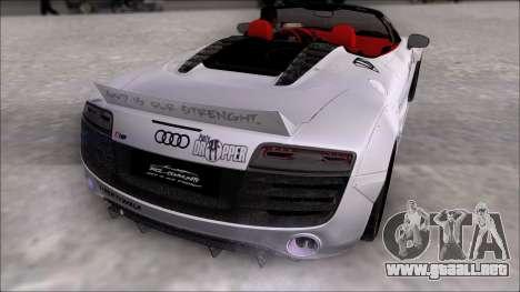 Audi R8 Spyder 5.2 V10 Plus LB Walk DiCe para GTA San Andreas