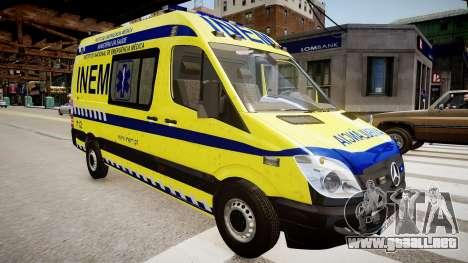 INEM Ambulance para GTA 4 visión correcta