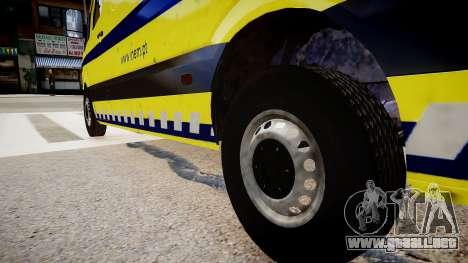 INEM Ambulance para GTA 4 vista hacia atrás