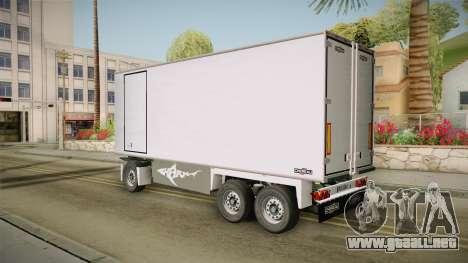 Iveco Eurotech 400E34 Tandem v2.0 Trailer para GTA San Andreas left