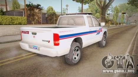 Dodge Ram 2008 Union Pacific Railroad PD para la visión correcta GTA San Andreas