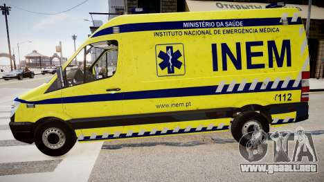 INEM Ambulance para GTA 4 left