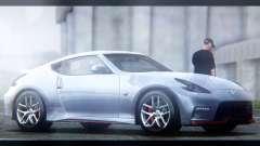 Nissan 370Z Nismo 2016 EU Plate para GTA San Andreas
