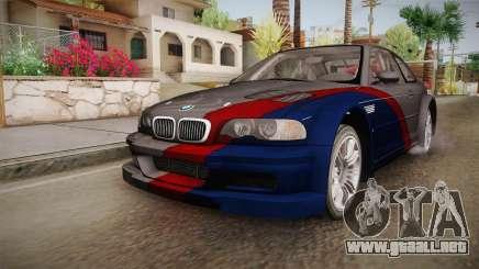 NFS: MW - BMW M3 GTR (E46) Hidden Vinyl Version para GTA San Andreas