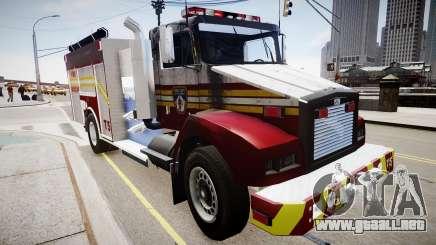 Nuevo camión de bomberos T5 para GTA 4