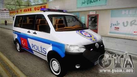 Volkswagen Transporter Turkish Police para GTA San Andreas