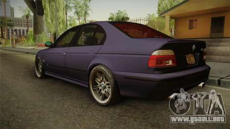 BMW M5 E39 Stock 2001 para GTA San Andreas left