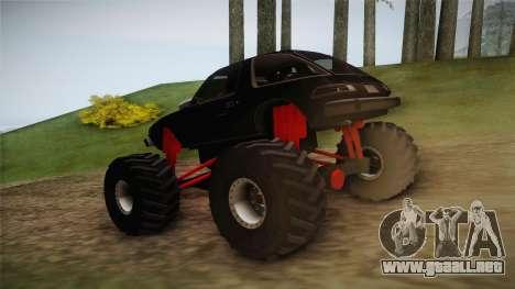 AMC Pacer Monster Truck para GTA San Andreas vista posterior izquierda