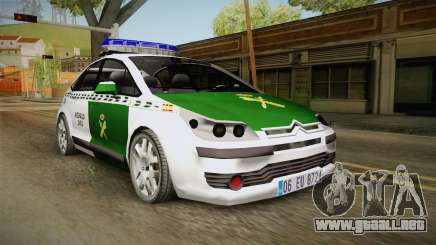 Citroen C4 Guardia Civil para GTA San Andreas